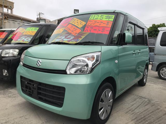 沖縄の中古車 スズキ スペーシア 車両価格 55万円 リ済込 平成25年 10.5万km グリーンM