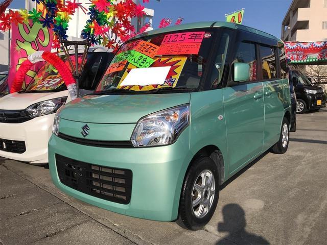 沖縄の中古車 スズキ スペーシア 車両価格 45万円 リ済込 2013(平成25)年 10.5万km グリーンM