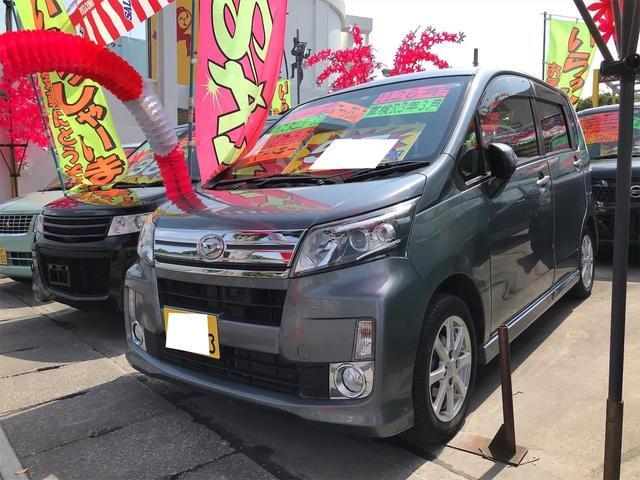 沖縄の中古車 ダイハツ ムーヴ 車両価格 55万円 リ済込 2014(平成26)年 10.2万km タングステングレーメタリック