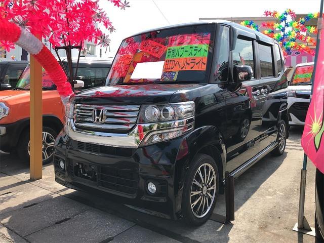 沖縄県沖縄市の中古車ならN-BOXカスタム G ターボSSパッケージ 両側パワースライド