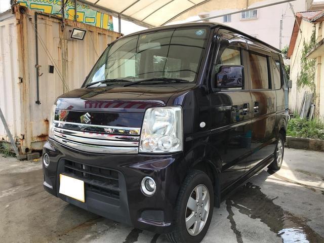 沖縄県の中古車ならエブリイワゴン PZターボ キーレス 左パワースライド ナビ TV