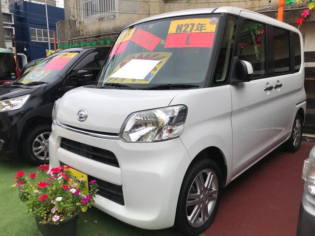 沖縄の中古車 ダイハツ タント 車両価格 49万円 リ済込 2015(平成27)年 10.9万km ホワイト
