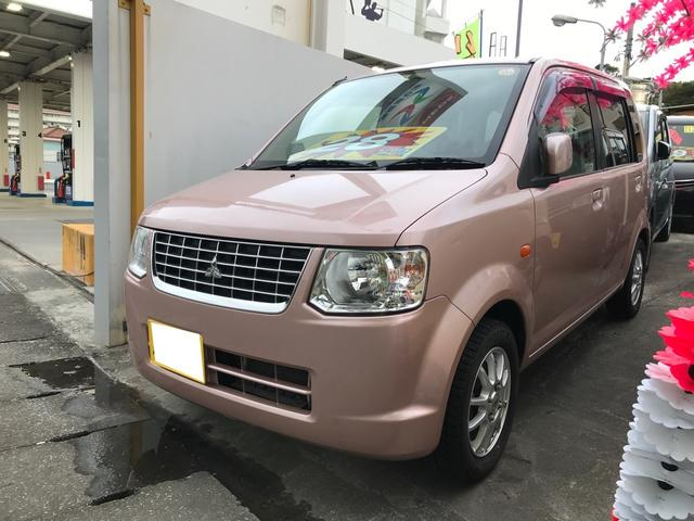 沖縄の中古車 三菱 eKワゴン 車両価格 28万円 リ済込 2013(平成25)年 10.3万km サクラピンクメタリック