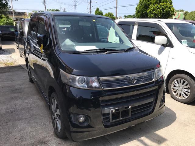 沖縄県の中古車ならワゴンRスティングレー リミテッドII スマートキー プッシュスタート シートヒーター フォグ ナビ TV Bluetooth