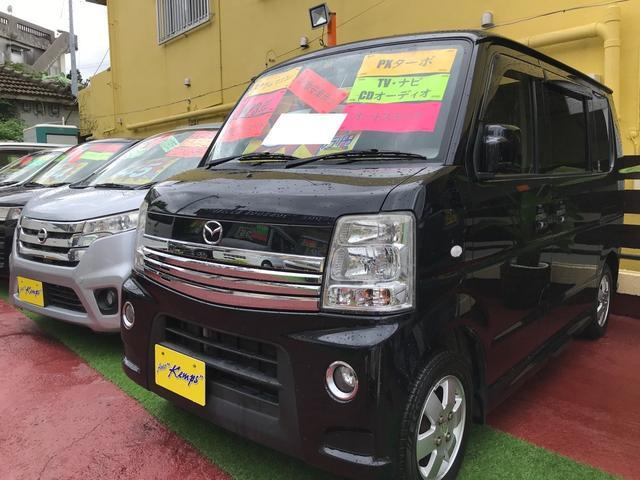沖縄県沖縄市の中古車ならスクラムワゴン PZターボ スペシャルパッケージ キーレス 両側パワースライドドア オートステップ ナビ ワンセグTV