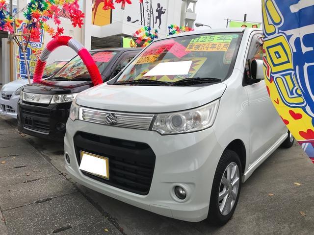 沖縄県の中古車ならワゴンRスティングレー X スマートキー プッシュスタート アイドリングストップ ナビ TV Bluetooth DVDビデオ フォグ
