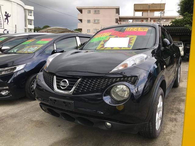 沖縄の中古車 日産 ジューク 車両価格 69万円 リ済込 2012(平成24)年 8.6万km サファイアブラックP