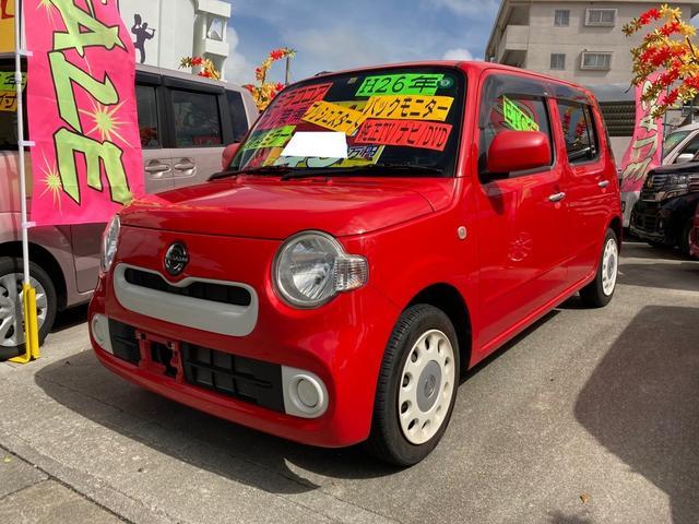 沖縄の中古車 ダイハツ ミラココア 車両価格 45万円 リ済込 2014(平成26)年 11.0万km シャイニングレッド