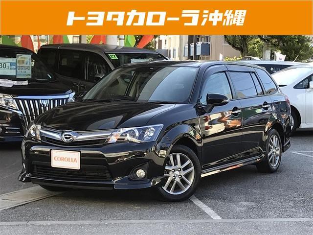 沖縄の中古車 トヨタ カローラフィールダー 車両価格 147万円 リ済別 平成25年 0.7万km ブラック