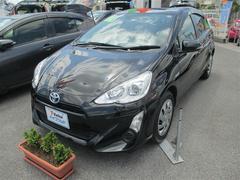 沖縄の中古車 トヨタ アクア 車両価格 119万円 リ済別 平成27年 6.1万K ブラック