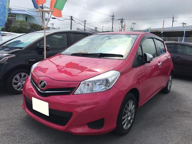 沖縄の中古車 トヨタ ヴィッツ 車両価格 98万円 リ済別 2012(平成24)年 3.3万km ピンク