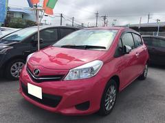 沖縄の中古車 トヨタ ヴィッツ 車両価格 110万円 リ済別 平成24年 3.3万K ピンク