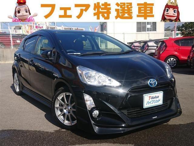 沖縄の中古車 トヨタ アクア 車両価格 149万円 リ済別 2016(平成28)年 5.5万km ブラック