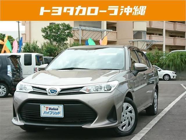 沖縄の中古車 トヨタ カローラアクシオ 車両価格 175万円 リ済別 2018(平成30)年 1.1万km ブラウン