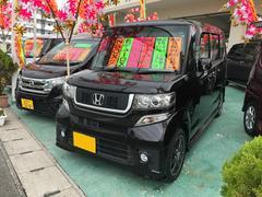 沖縄の中古車 ホンダ N BOX 車両価格 113万円 リ済込 平成25年 4.1万K ブラック