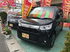 沖縄の中古車 スズキ ワゴンRスティングレー 車両価格 73万円 リ済込 平成25年 8.5万K ブラック