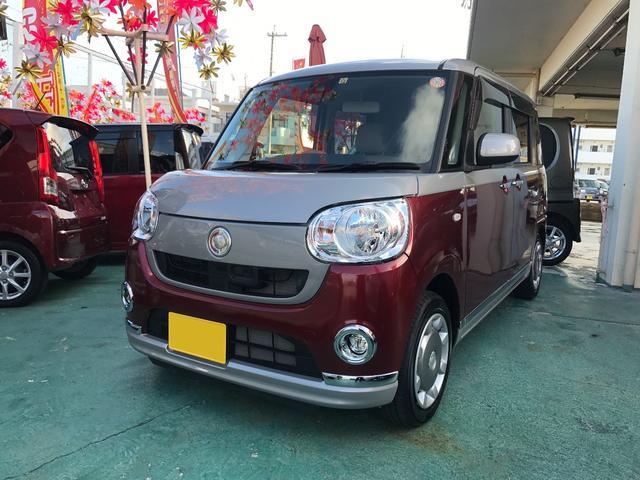沖縄の中古車 ダイハツ ムーヴキャンバス 車両価格 142万円 リ済込 平成29年 796km レッドII