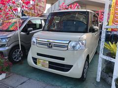 沖縄の中古車 ホンダ N BOX 車両価格 103万円 リ済込 平成27年 0.7万K アイボリー