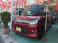 沖縄の中古車 スズキ スペーシアカスタム 車両価格 106万円 リ済込 平成26年 1.3万K レッドII