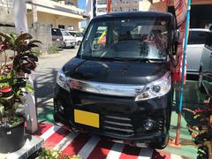 沖縄の中古車 スズキ スペーシアカスタム 車両価格 96万円 リ済込 平成26年 1.9万K ブラック