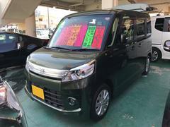 沖縄の中古車 スズキ スペーシアカスタム 車両価格 92万円 リ済込 平成26年 5.7万K グリーン