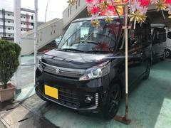 沖縄の中古車 スズキ スペーシアカスタム 車両価格 112万円 リ済込 平成27年 5.9万K ブルーイッシュブラックパール3