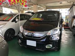 沖縄の中古車 ホンダ フリードハイブリッド 車両価格 112万円 リ済込 平成24年 6.7万K プレミアムブラキッシュパール