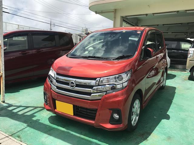 沖縄の中古車 日産 デイズ 車両価格 102万円 リ済込 平成29後 0.7万km スカーレット