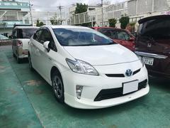 沖縄の中古車 トヨタ プリウス 車両価格 122万円 リ済込 平成25年 5.9万K スーパーホワイトII