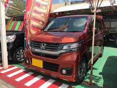 沖縄の中古車 ホンダ N−WGNカスタム 車両価格 86万円 リ済込 平成26年 3.9万K オレンジ