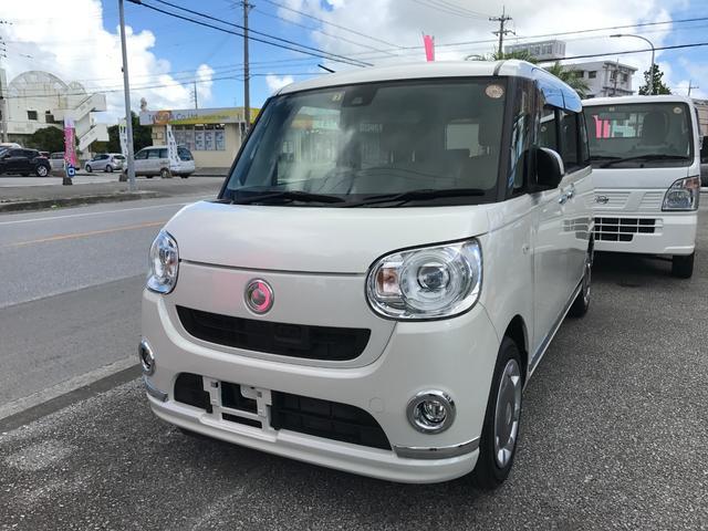 沖縄の中古車 ダイハツ ムーヴキャンバス 車両価格 126万円 リ済込 平成29年 2.0万km パール