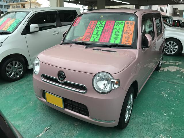 沖縄の中古車 ダイハツ ミラココア 車両価格 82万円 リ済込 平成25年 2.7万km ピンク