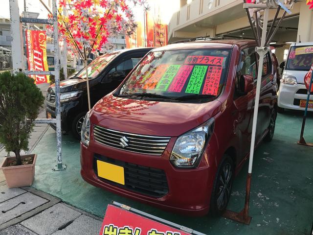 沖縄の中古車 スズキ ワゴンR 車両価格 73万円 リ済込 平成25年 6.0万km レッド