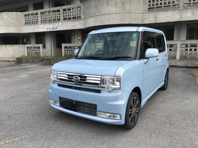 沖縄の中古車 ダイハツ ムーヴコンテ 車両価格 69万円 リ済込 平成25年 2.1万km ライトブルー