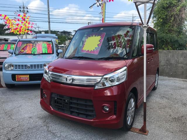 沖縄の中古車 マツダ フレアワゴンカスタムスタイル 車両価格 73万円 リ済込 平成25年 8.9万km レッド