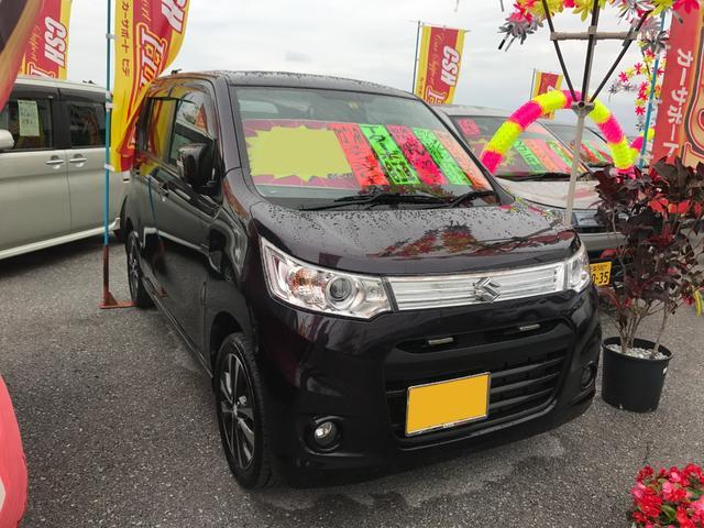 沖縄の中古車 スズキ ワゴンRスティングレー 車両価格 76万円 リ済込 平成25年 7.6万km ダークパープル