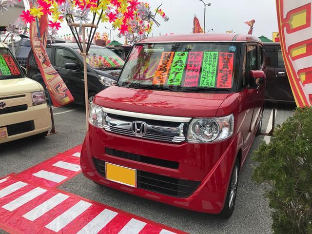 沖縄の中古車 ホンダ N-BOXスラッシュ 車両価格 112万円 リ済込 2015(平成27)年 3.9万km レッド