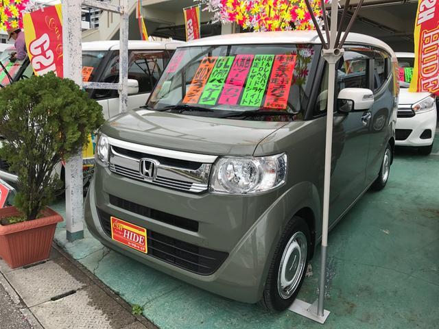 沖縄の中古車 ホンダ N-BOXスラッシュ 車両価格 127万円 リ済込 平成28年 4.0万km グリーンII