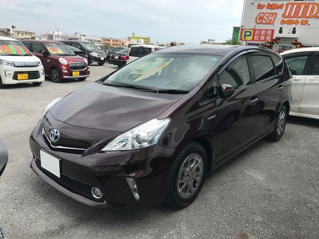 沖縄県の中古車ならプリウスアルファ S チューン ブラック ナビTV