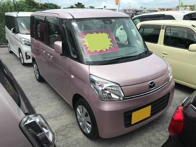 沖縄の中古車 マツダ フレアワゴン 車両価格 72万円 リ済込 2014(平成26)年 3.2万km ピンク