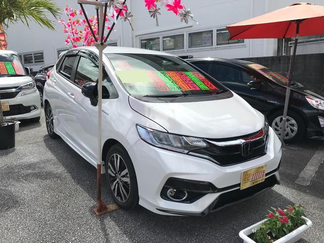 沖縄県の中古車ならフィットハイブリッド S ホンダセンシング 純正9インチナビTV