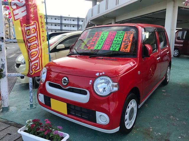 沖縄の中古車 ダイハツ ミラココア 車両価格 73万円 リ済込 2015(平成27)年 2.5万km レッド