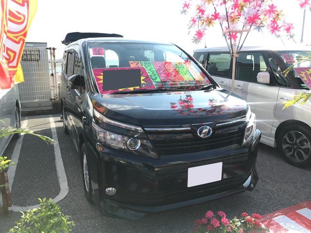 沖縄県の中古車ならヴォクシー ハイブリッドV 9インチフルセグナビ ブルートゥース