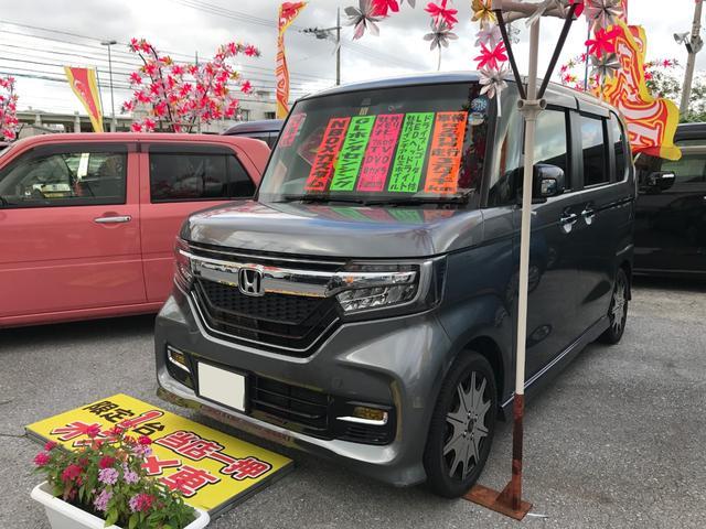 沖縄県の中古車ならN-BOXカスタム G・Lホンダセンシング 社外フルセグメモリーナビ