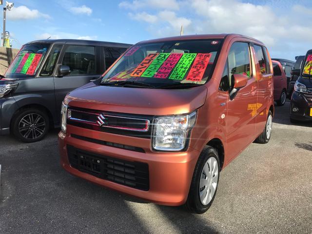 沖縄県の中古車ならワゴンR ハイブリッドFXセーフティパッケージ 社外フルセグナビ