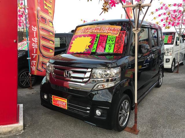 沖縄の中古車 ホンダ N-BOXカスタム 車両価格 112万円 リ済込 2016(平成28)年 3.5万km ブラック