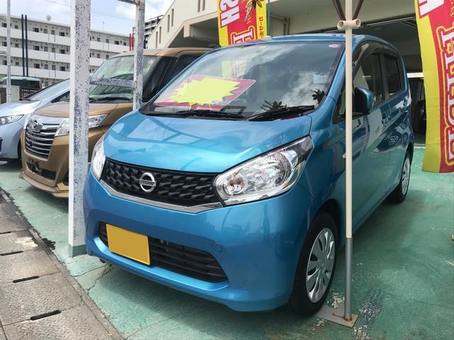 沖縄の中古車 日産 デイズ 車両価格 52万円 リ済込 2013(平成25)年 2.0万km ブルー