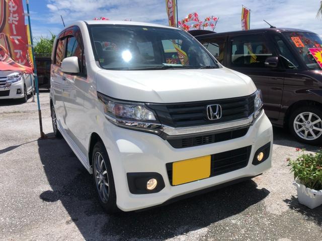 沖縄の中古車 ホンダ N-WGNカスタム 車両価格 85万円 リ済込 2014(平成26)年 2.7万km パール