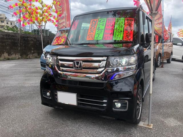 沖縄県沖縄市の中古車ならN-BOXカスタム G・ターボLパッケージ 純正ナビTV
