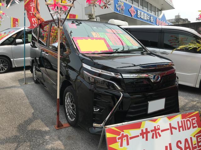 沖縄県の中古車ならヴォクシー ハイブリッドZS 煌 10インチナビ セーフティセンス